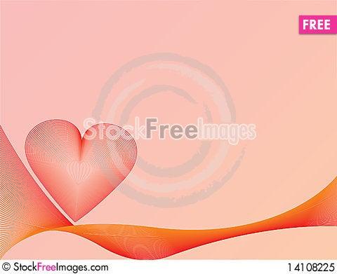 Free Heart Background Royalty Free Stock Photo - 14108225