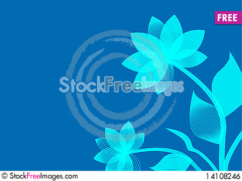 Free Background With Flower Royalty Free Stock Image - 14108246