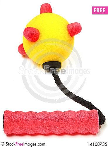 Foam Mace Weapon Stock Photo