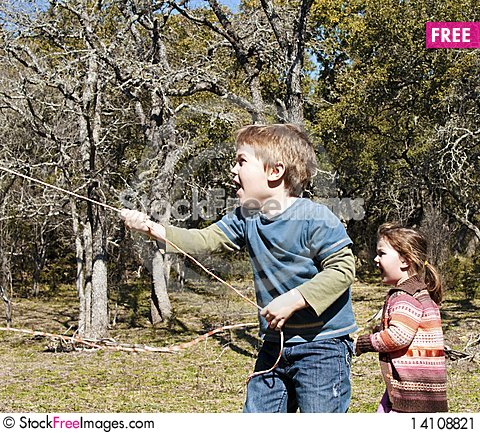 Free Children Showing Surprise While Playing Stock Image - 14108821