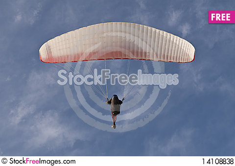 Free Paraglider On Blue Sky Royalty Free Stock Photos - 14108838