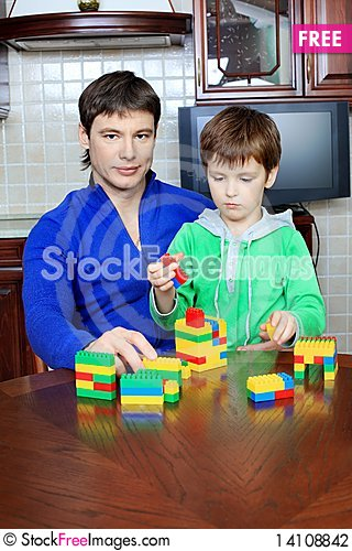 Free Father And Son At Home Stock Photography - 14108842