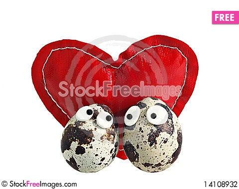 Free Eggs Love Stock Photography - 14108932
