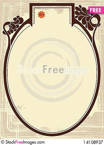 Free Art-Nouveau Border Royalty Free Stock Photography - 14108937
