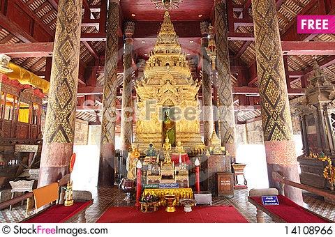 Free Buddha Image, Lampang, Thailand Royalty Free Stock Image - 14108966