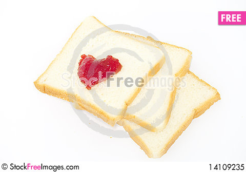 Free Bread With Strawberry Jam Royalty Free Stock Photo - 14109235