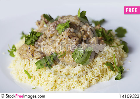 Free Couscous With Coconut Milk Lamb Curry Stock Photos - 14109323