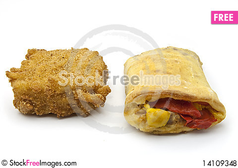 Free Fried Dough And Roulade Of Peppers Royalty Free Stock Photos - 14109348