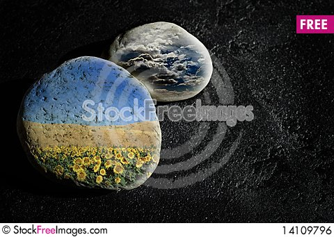 Free Two Stone Royalty Free Stock Image - 14109796