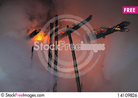 Free Fire Scene Royalty Free Stock Image - 14109826