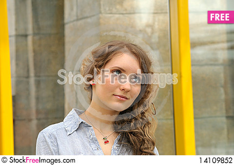Free Young Girl With Long Hair Stock Photography - 14109852