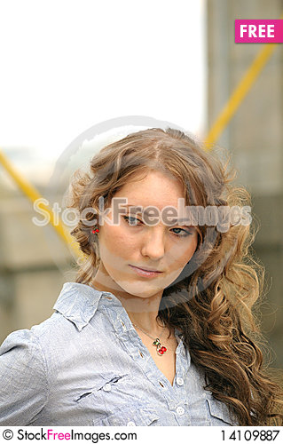 Free Young Girl With Long Hair Royalty Free Stock Photography - 14109887