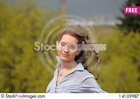 Free Young Girl With Long Hair Royalty Free Stock Photography - 14109987