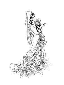 Free Stylized Bride Royalty Free Stock Image - 14100406