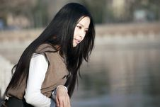 Free Asian Girl Thinking Stock Photo - 14100800
