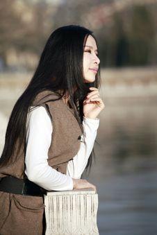 Girl Enjoying Scenery Royalty Free Stock Photo