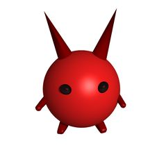 Devil With A Horns Royalty Free Stock Photo