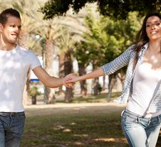 Free Young Couple Enjoying Royalty Free Stock Images - 14101229