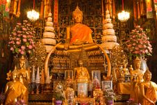 The Buddha Of Wat Phananchoeng Worawihan Royalty Free Stock Photography