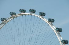 Free Cylindrical Cars On Ferris Wheel Royalty Free Stock Image - 14102256