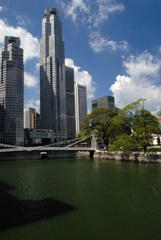 Cavanagh Bridge In Singapore Stock Photos