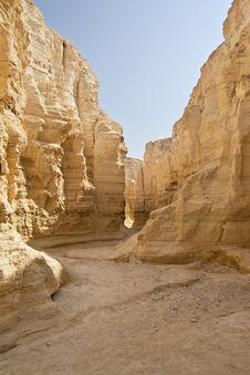 The Perazim Canyon. Royalty Free Stock Photo
