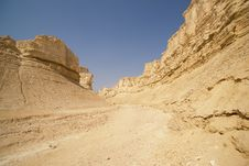 The Perazim Canyon. Royalty Free Stock Images