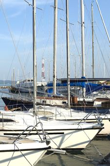Free Sailing Harbor At Lake Balaton Royalty Free Stock Images - 14103279