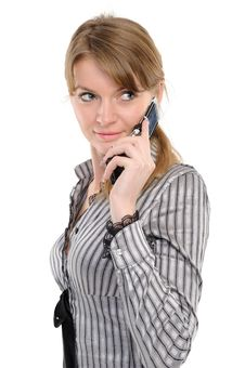 Free Woman With Phone Royalty Free Stock Photography - 14103307