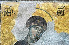 Virgin Mary, Hagia Sophia, Istanbul Royalty Free Stock Image