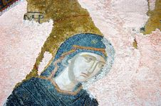 A Mosaic Showing The Virgin Mary Royalty Free Stock Photography