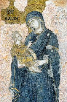 Free The Virgin With The Christ Child, Chora Church Stock Photos - 14104193