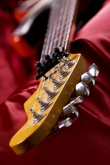 Guitar Head Close-up Royalty Free Stock Images