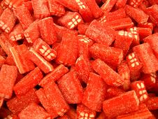 Red Sour Sweets Stock Image