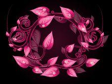 Floral Frame Banner Stock Image