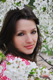 The Beautiful Girl In A Garden