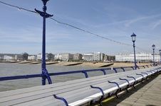 On Eastbourne Pier, Sussex Stock Images