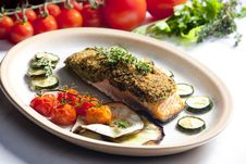 Free Baked Salmon Stock Photo - 14107820