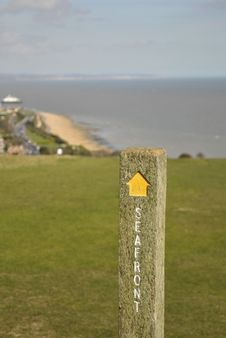Free Signpost On South Downs Way Stock Photography - 14108182