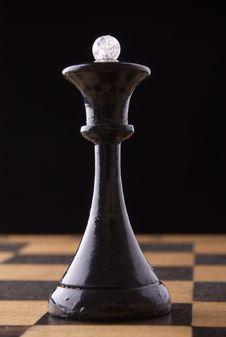 Black Chess Queen Stock Photos