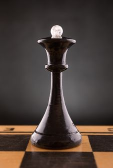 Black Chess Queen Stock Image