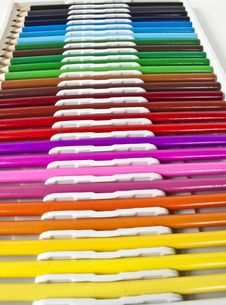 Multi-colored Pencils Royalty Free Stock Photography