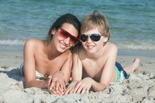 Free Teenagers At The Beach Royalty Free Stock Photo - 14108855