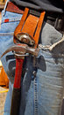 Free Hammer Hanging From Tool Holder Royalty Free Stock Photography - 14114437