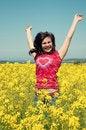 Free Happy Girl Jumping Royalty Free Stock Photos - 14118708