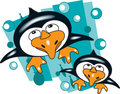 Free Merry Penguins Royalty Free Stock Photography - 14119497