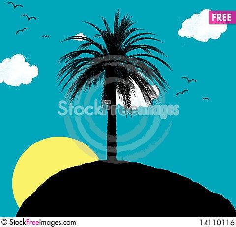 Free Desert Island Royalty Free Stock Image - 14110116