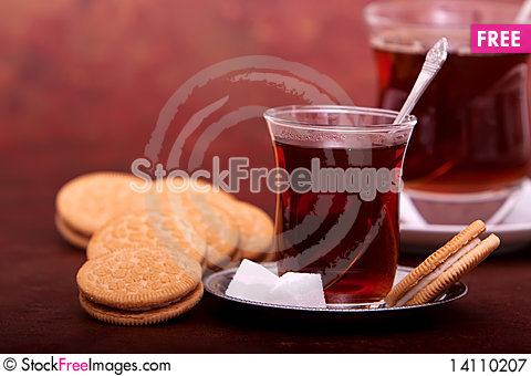 Free Tea And Cookies Royalty Free Stock Photography - 14110207