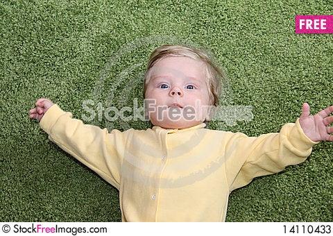 Free Baby Boy Greetings Stock Photos - 14110433