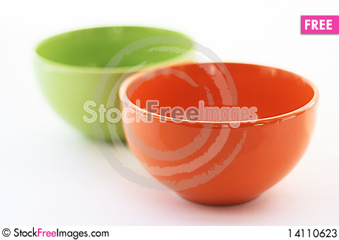 Free Multi-coloured Cups On A White Background Stock Photos - 14110623